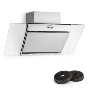 Zola Cooker Extractor Hood Recirculation Set 90cm 635m³ / h Activated Carbon Filter Silver Silver