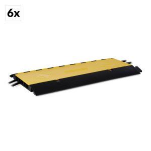 CP-5CH 6 Set de Calhas P/ Cabos Cada com uma Calha: 5 Canais Grande Carga 20t TPU 6er-Set
