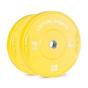 Nipton Bumper Plate Disco Peso| 1 x 15 kg | Gomma Dura giallo 15 kg