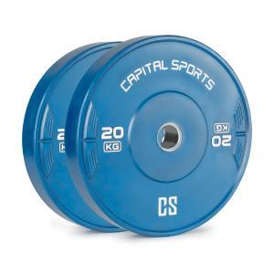 Nipton bumper plate gewichtsplaat | 1 x 20 kg | hard rubber blauw 20 kg