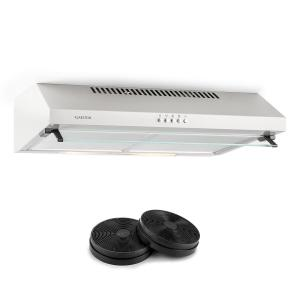 Purista Cooker Extractor Hood Recirculation Set 60cm 190 m³ / h 2 Activated Carbon Filters