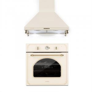 Victoria Set Built-in Oven Extractor Hood Retro Design Ivory Ivory