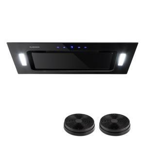 HEKTOR Cappa Aspirante Illuminazione Filtro in Alluminio Timer Nero nero | 52 cm | accessory_active_coal_filter