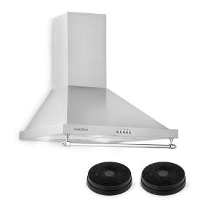Montblanc Cooker Extractor Hood Recirculation Set 610m³ / h 165W 2x1.5W Silver-Grey Silver grey