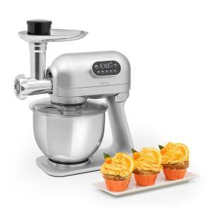 Curve Plus keukenmachineset I 5L I 4-in-1 vleesmolen I zilver Zilver
