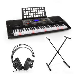 Etude 450 inlärning-keyboard-set studiohörlurar keyboard-stativ