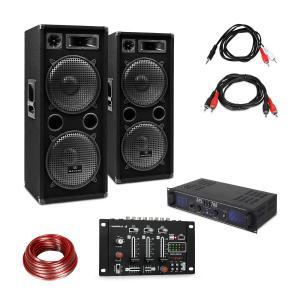 SPL700EQ förstärkare-set med 2 högtalare mixerbord