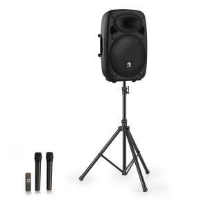 """Streetstar 15 Mobil PA-anläggning + stativ 15"""" woofer UHF-mikrofon 1000 W svart"""