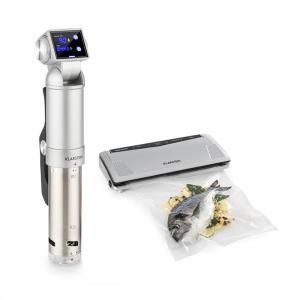 Quickstick Pro Foodlocker Silver Set | Sous Vide Garer + Vakuumierer silber Silber