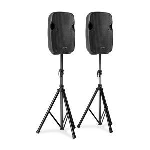 AP800A Lautsprecher-Set 200W Boxenständer schwarz