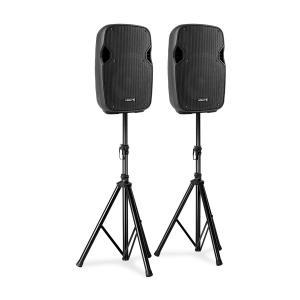AP1000A Lautsprecher-Set 400W Boxenständer schwarz