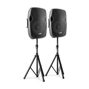 AP1500A Lautsprecher-Set 800W Boxenständer schwarz