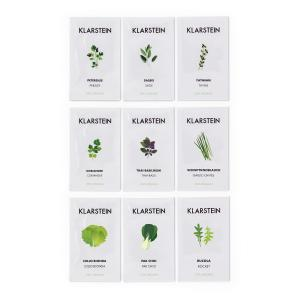 GrowIt Seeds Set de graines 9 herbes : 3x Asie 3x Europe 3x Salade