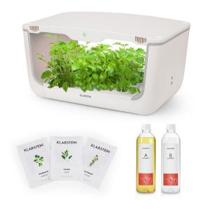 GrowIt Farm Starter Kit Europe 28 plantas 48 W 8 l semillas Europa solución de nutrientes