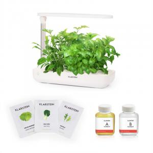 GrowIt Flex Starter Kit I 9 Pflanzen 18W LED 2Ltr Salad-Seeds Nährlösung