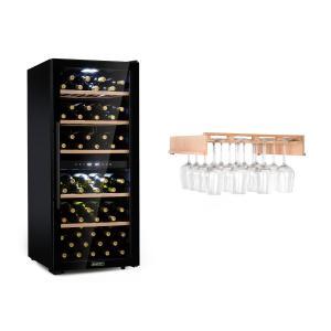 Barossa 102 Duo refrigerador para vinos 2 zonas 102 botellas estante para copas