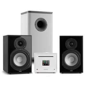 Unison Reference 802 Edition Stereoanlage Verstärker Boxen schwarz / weiß