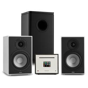 Unison Reference 802 Edition – Stereoanlage Verstärker Boxen weiß/schwarz