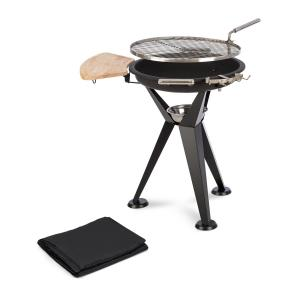Caruso Fire Bowl Ø58cm | Ø55cm Grill Weather Protection Cover Steel Black