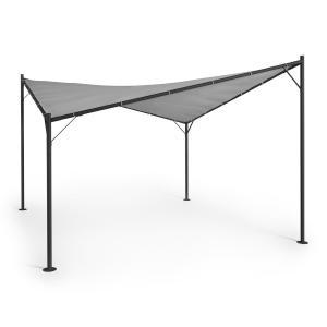 Sombra Pergola Complete Set 4x4m Polyester Roof Grey Grey
