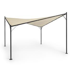 Sombra Pergola Complete Set 4x4m Polyester Roof Beige Beige