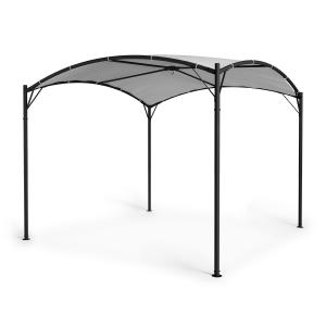 Castello Pavillon 3.5x3.5m 250G Polyester Steel Black / Grey Grey