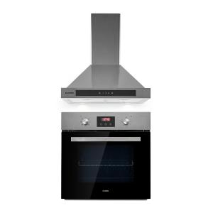 Kalahari Zelda ensemble four encastrable + hotte aspirante 68 l inox
