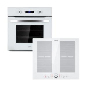 Gusteau Delicatessa Built-In Oven Set Induction 7000W 64L White Stainless Steel