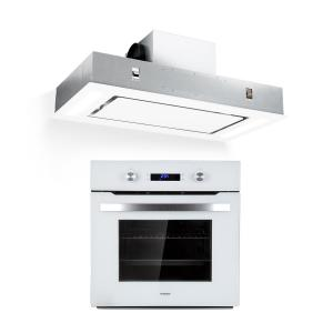Gusteau Remy ensemble four + hotte encastrables 2950 W inox blanc