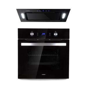 Gusteau Hektor Built-In Set Oven + Substructure Hood 2950W Black Stainless Steel