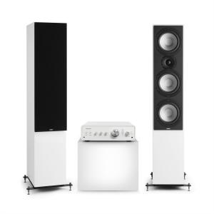 Drive 801 Stereo Set Stereo Amplifier + Tower Speakers White / Black