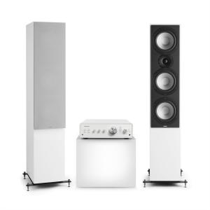 Drive 801 Stereo Set Stereo Amplifier + Tower Speakers White / Grey