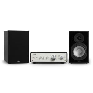 Drive 802 -stereosetti stereovahvistin + hyllykaiuttimet musta