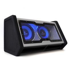 """SUB-2x10-42 passiver Dual-Auto-Subwoofer 2000W max. LED-Lichteffekt Acryl 25 cm (10"""")"""