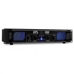 SPL1000 DJ PA-Verstärker Audio LED 2800W Equalizer Schwarz | Equalizer | 2x 500 W (4 Ohm) / 2x 350 W (8 Ohm)