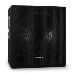 SMWA15 DJ PA 38cm Aktiv Subwoofer Box 600W mit Stativ Flansch