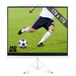 Beamer Stativ-Leinwand 170x170cm Heimkino Projektor HDTV 244cm 1:1