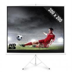 Beamer Stativ-Leinwand 200x200cm Heimkino Projektor HDTV