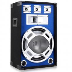 SKY-178 PA-Lautsprecher PA-Box 38cm (15'')-Subwoofer blau LED-Lichteffekt 800W