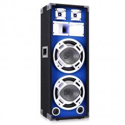 SKY-178 PA-Lautsprecher PA-Box 2x 25cm (10'')-Subwoofer blau LED-Lichteffekt 800W