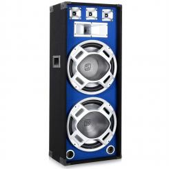 SKY-178 PA-Lautsprecher PA-Box 2x 38cm (15'')-Subwoofer blau LED-Lichteffekt 1000W