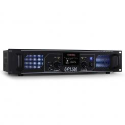 SPL-500 PA-HiFi-Verstärker 2 x 250W USB-SD-MP3 Schwarz | MP3-Player | 2x 250 W (4 Ohm)