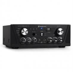 SKY-103 HiFi-Karaoke-Verstärker 400W max. Radio-Tuner MP3-USB-SD 2x Mikrofon-Anschluss schwarz Schwarz