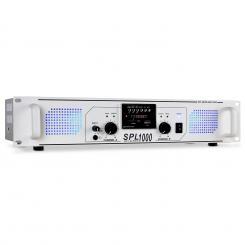 SPL-1000 PA-Verstärker USB-SD-MP3 2 x 500W weiß Weiß | MP3-Player | 2x 500 W (4 Ohm)