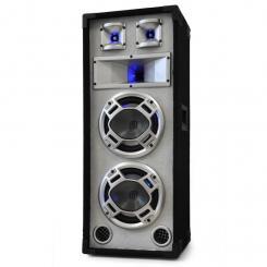 Disco PA-Box 2x20cm Passiv-Lautsprecher weiß 600W Lichteffekt