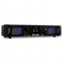 SPL-1500 HiFi-PA-Verstärker USB-SD-MP3 2 x 750Wmax. Schwarz | MP3-Player | 2x 750 W (4 Ohm) / 2x 500 W (8 Ohm)