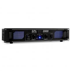 SPL-2000-EQ HiFi-PA-Verstärker 48cm LED-Effekt Schwarz | Equalizer | 2x 1000 W (4 Ohm) / 2x 750 W (8 Ohm)