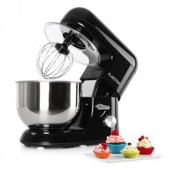 Bella Nera Küchenmaschine, 1200W 1,6 PS, 5 Liter schwarz Schwarz