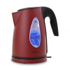 SS17 Wasserkocher 2200W 1,7l LED-Lichteffekt Cool-Touch rot