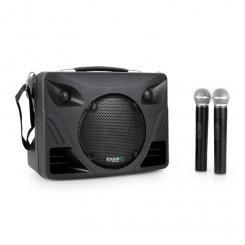 "Port85VHF-BT mobile PA-Box Bluetooth USB SD MP3 VHF 2x Funk-Mikrofon 20 cm (8"")"